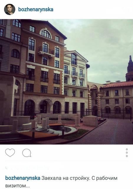 Пост с фотографией дома, где предположительно находится новая квартира Божены