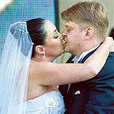 Фото Лолиты Милявской и Александра Зарубина в день свадьбы