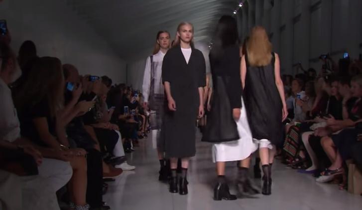 Модный показ DKNY (Донна Каран Нью-Йорк)  весна-лето 2016 видео, Неделя моды в Нью-Йорке