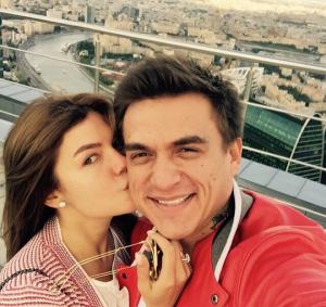 Влад Топалов и его жена Ксения Данилина фото из Инстаграма