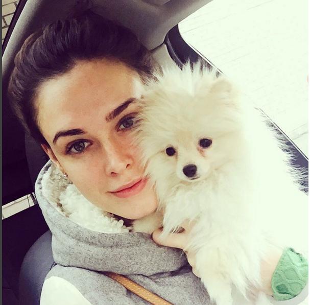 Ирина Антоненко со своим домашним питомцем фото из Инстаграма октябрь 2015