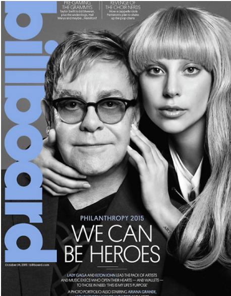 Леди Гага с Элтоном Джоном на обложке журнала Billboard, фото из Инстаграма издания