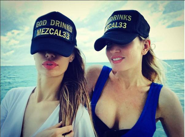 Виктория Боня и Хофит Голан рекламируют мескаль фото октябрь 2015