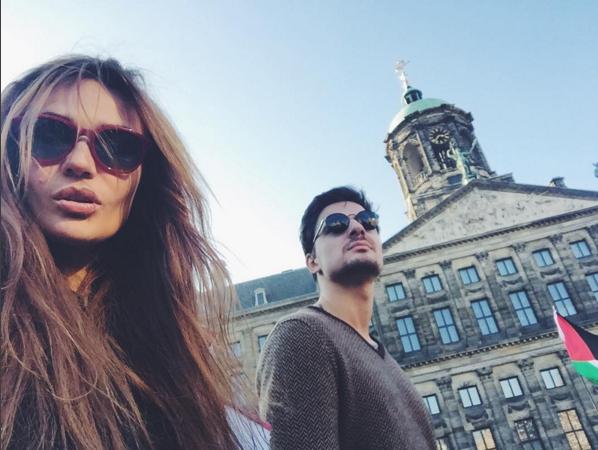 Фото Алены Водонаевой со своим мужчиной во время поездки в Амстердам в октябре 2015