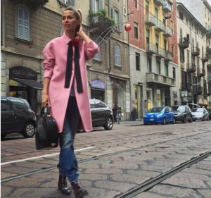 Фото Виктории Бони в Милане, ноябрь 2015