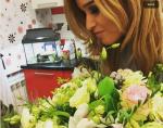 Ксения Бородина фото с цветами от мужа ноябрь 2015 Инстаграм