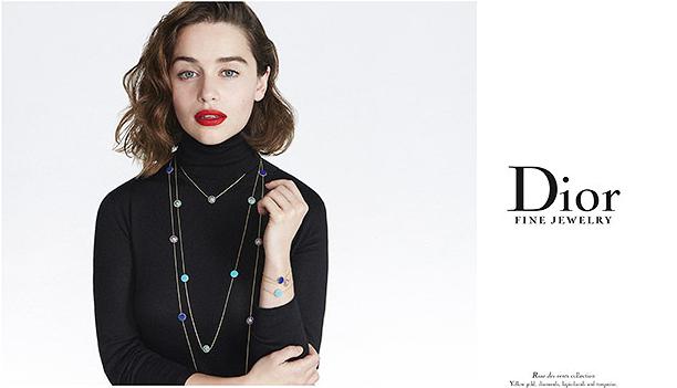 Эмилия Кларк фото для рекламной компании ювелирной коллекции Диор