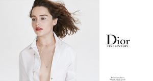 Фото Эмилии Кларк в рекламе Диор