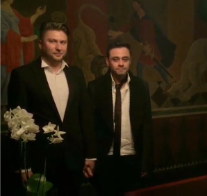 Максим Кочергин и Джемал Ахмедов фото в день регистрации брака в Дании