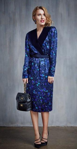 Фото Ксении Собчак в винтажных вещах, Инстаграм