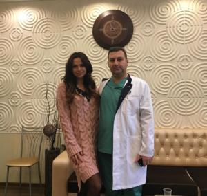 Фото Виктории Романец с пластическим хирургом Тиграном Алексаняном, ноябрь 2015 Инстаграм