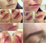 Фото из Инстаграма Виктории Романец: увеличение губ и татуаж бровей