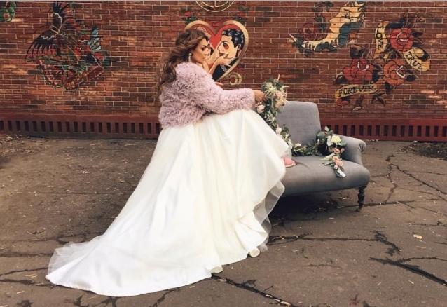 Фото Алены Водонаевой 2015 в свадебном платье