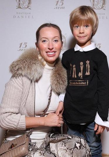 Фото Ульяны Цейтлиной с сыном Саввой