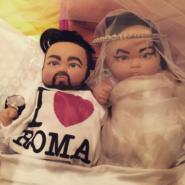 Свадебные куклы в виде Анны Нетребко и Юсифа Эйвазова, фото из Инстаграма
