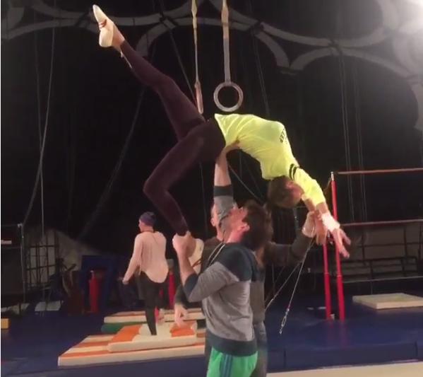 Виктория Боня: фото с тренировки для шоу «Без страховки»