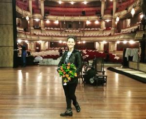 Фото Елизаветы Боярской во время гастролей в Амстердаме