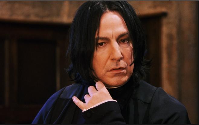 """Фото Алана Рикмана в образе профессора Снейпа в """"Гарри Поттере"""""""