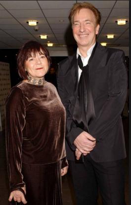 Актер Алан Рикман фото с женой Римой Хортон