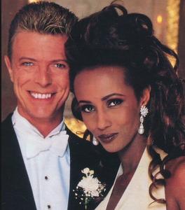 Дэвид Боуи фото с Иман в день свадьбы
