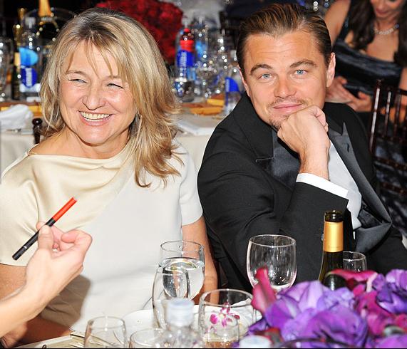 Леонардо Ди Каприо  с мамой, фотографии