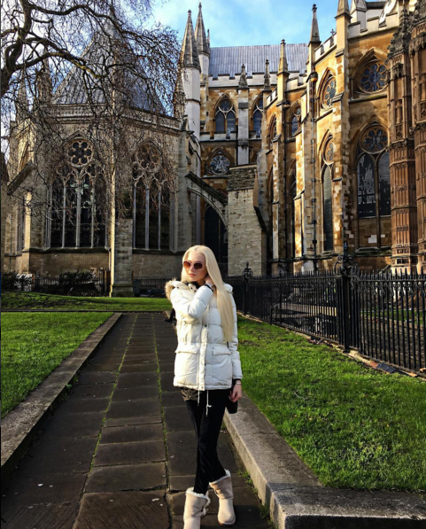 Алена Шишкова в Вестминстерском аббатстве, фото 2016
