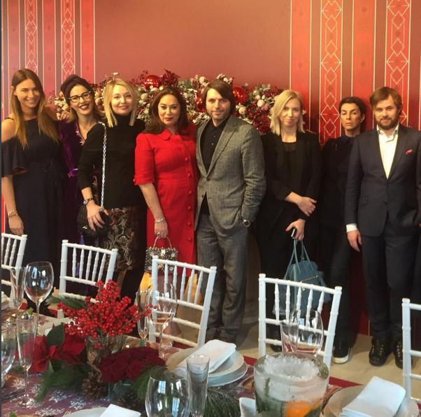 Фото Ксении Собчак на предновогодней встрече с редакторами глянцевых журналов, 2016 год, Инстаграм
