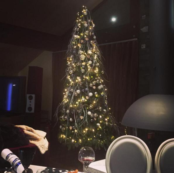 Фото из Инстаграма Ксении Собчак: рождественская ёлка в отеле