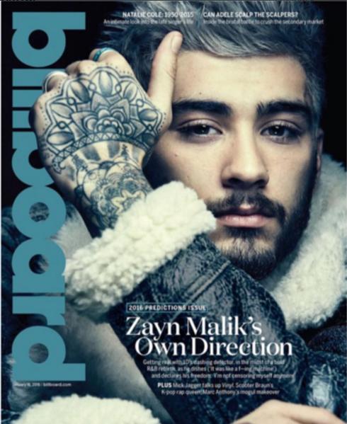Зейн Малик фото 2016 на обложке журнала Billboard