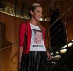 Фото Ольги Бузовой в футболке с портретом мужа Дмитрия Тарасова и хэштегом #мой