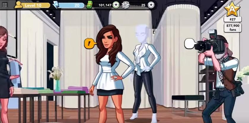 Скрин игрового приложения Ким Кардашьян