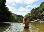 Алена Водонаева в озере в Таиланде фото 2016
