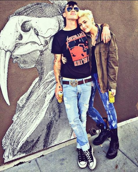 Пэрис Джексон и Майкл Снуди, её новый парень фото из Инстаграма