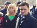 Оксана Пушкина с губернатором Московской обл. Андреем Воробьевым в качестве уполномоченной по правам ребёнка. Фото из Инстаграма