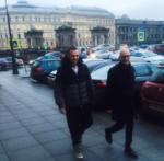 Братья-близнецы Игорь Верник и Вадим Верник в Петербурге, фото из Инстаграма Игоря Верника