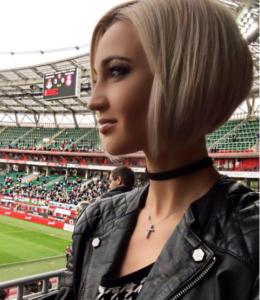 Фото Ольги Бузовой на стадионе, май 2016
