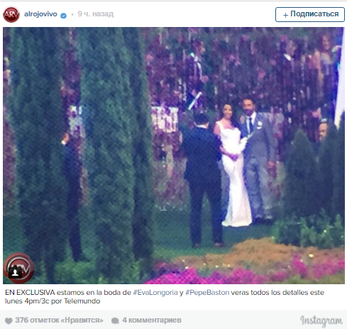 Ева Лонгория и Хосе Антонио Бастон фото в день свадьбы, 21 мая 2016