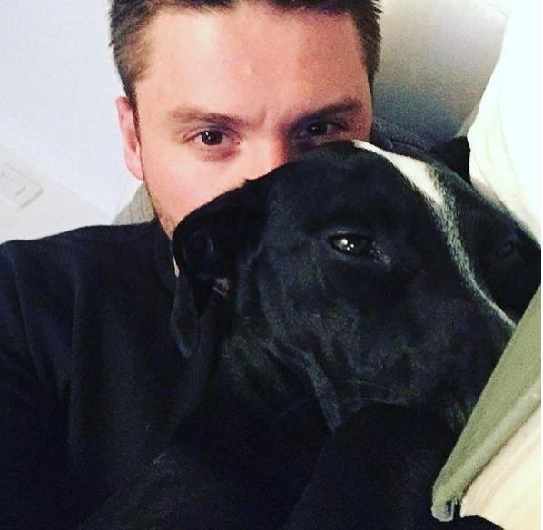 На фото Сергей Лазарев со своей собакой Дейзи, май 2016