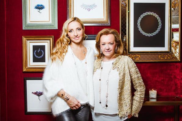 Фото Татьяны Навки с Каролиной Шойфеле-Груози, креативным директором бренда Шопар