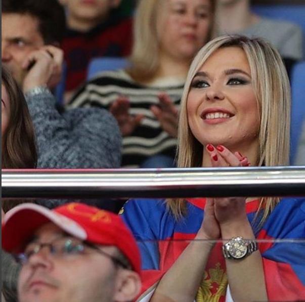 Фото Пелагеи во время одного из матчей