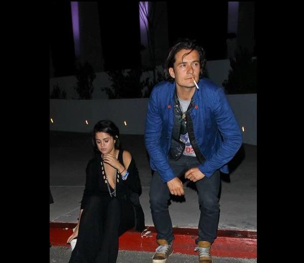 Селена Гомес и Орландо Блум фото у ночного клуба в Лас-Вегасе, май 2016