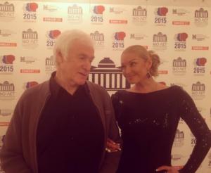 """На фото Анастасия Волочкова и Семен Злотников, автор пьесы """"Пришел мужчина к женщине"""""""