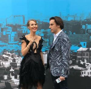 Ксения Србчак и Максим Галкин - ведущие премии Муз-ТВ 2016, фото из Инстаграма Собчак