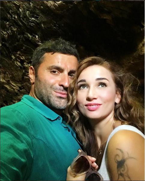 Анфиса Чехова с мужем Гурамом Баблишвили на острове Родос в июле 2016, фото из Инстаграма