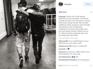 Пост Леди Гага в Инстаграме о расставании с Тейлором Кинни