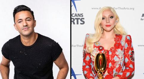 На фото Леди Гага и продюсер RedOne (Надир Хайят)