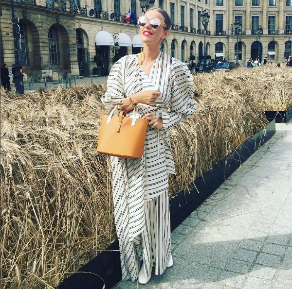 Ещё один образ Ксении Собчак на Неделе высокой моды в Париже, фото июль 2016 из Инстаграма