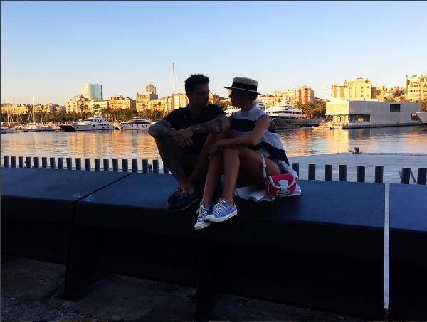 Алена Водонаева и Антон Коротков фото август 2016 во время поездки в Барселону