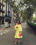 Фото Алены Водонаевой во время поездки в Барселону летом 2016