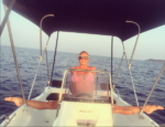 Знаменитый шпагат Волочковой на яхте, фото лето 2016
